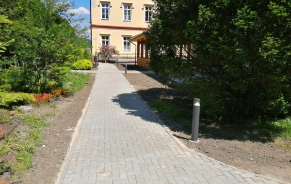 Stavební úpravy, altán a nové zpevnění plochy v areálu Střediska sociálních služeb města Frýdlant nad Ostravicí 2