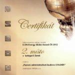 Ocenění v soutěži E.ON Energy Globe Award ČR 2